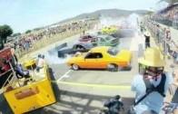 Světový rekord v pálení gumy – burnout 103 aut na jenom místě