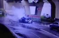Neuvěřitelné! Range Rover Evoque spadne z mostu a posádka odejde bez zranění