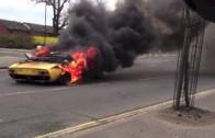 Smutná sváteční vyjížďka – Lamborghini Miura lehla popelem