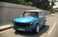 Vytuněný Trabant KoKonja s motorem z Fiatu Coupé jede 220 km/h