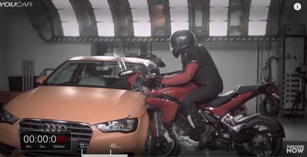 Crash test Ducati vs Audi
