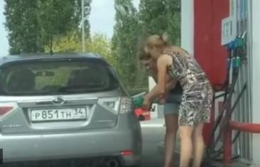 tankování u benzínky