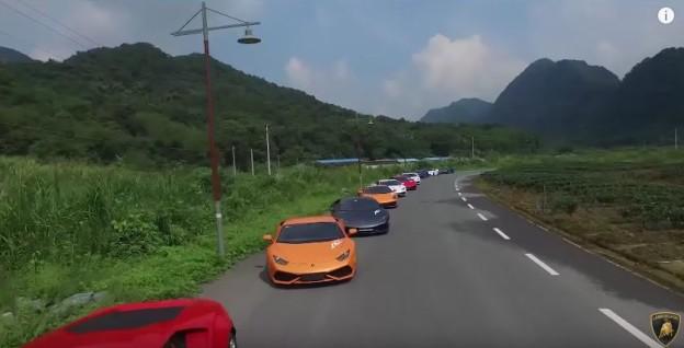 Čínský sraz Lamborghini - 10. výročí