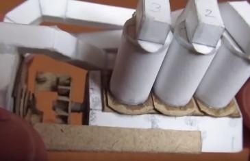 šestiválec z papíru