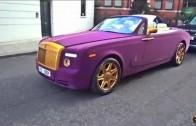 Rolls Royce ve zlatě a fialovém sametu – když nevíš, co s prachama