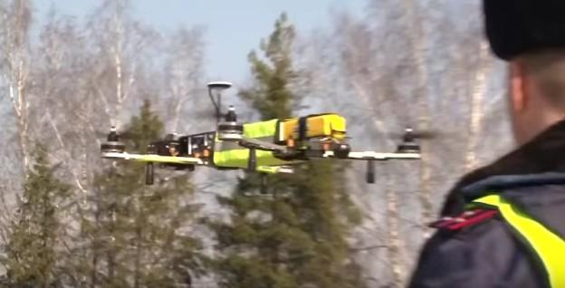 Ruská dálniční policie se vybavuje drony
