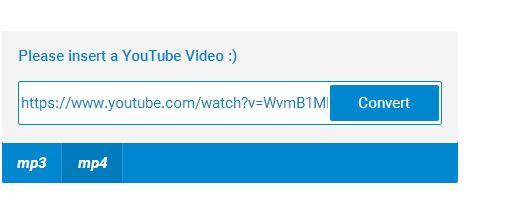 url stahovaného videa zadejte do rámečku