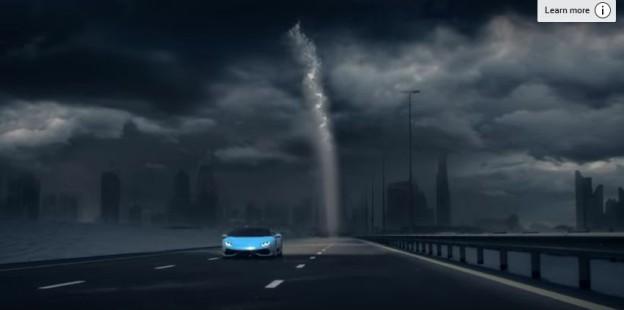 Reklama na Lamborghini Huracan