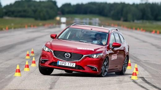 Mazda 6 Wagon zvládla losí test na jedničku