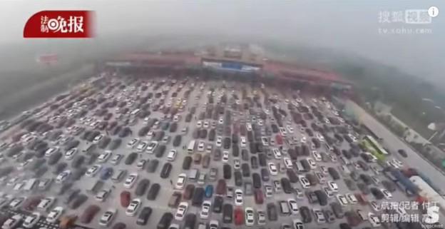 Číňané v dopravní zácpě