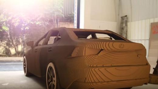 Papírové auto od Lexusu
