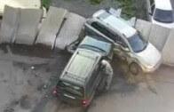 Demolice auta na parkovišti – pomsta jedné malé ruské zrzky