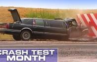 Crash test limuzíny – čelní náraz do betonového bloku