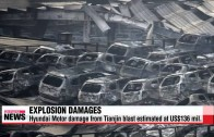 Exploze v Číně – ohořelé Hyundaie za 136 milionů dolarů